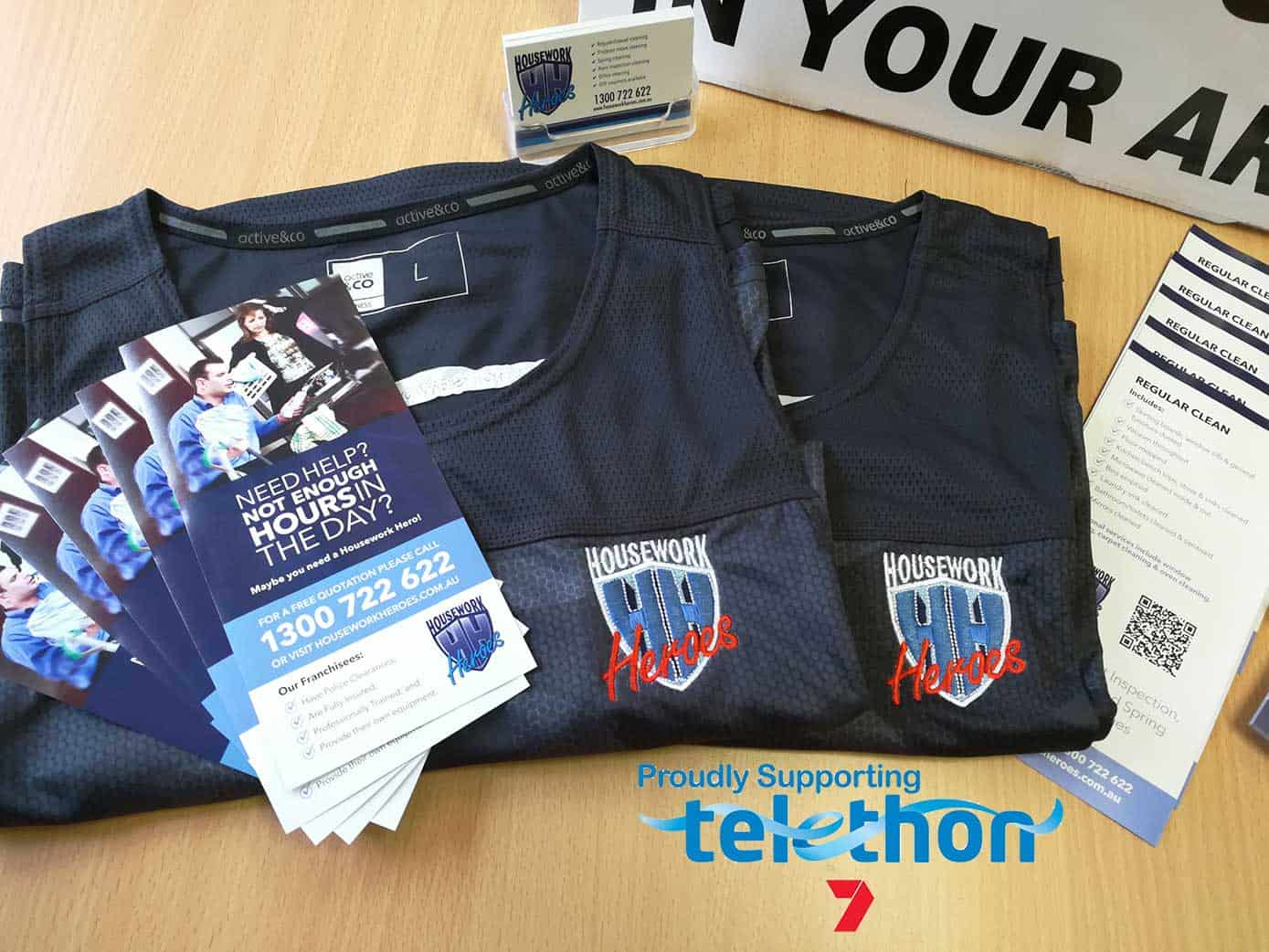 Housework Heroes Charity Kit for Safety Bay's Telethon Challenge